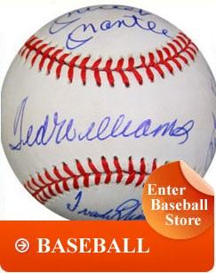 baseball memorabilia on sportsonmainstreet.com