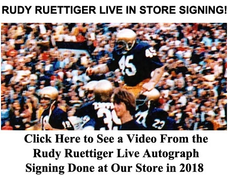 Rudy Ruettiger Live In-Store Signing on November 7th, 2018