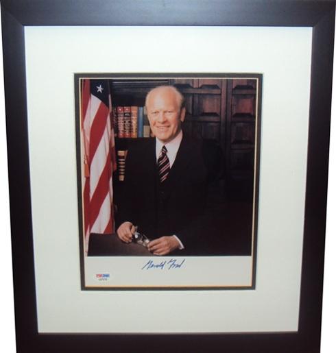 President GeraldFord Autograph Sports Memorabilia from Sports Memorabilia On Main Street, sportsonmainstreet.com