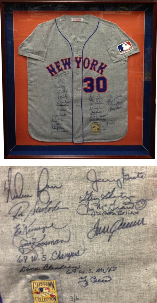 1969 New York Mets World Series Championship Team Autograph Sports Memorabilia from Sports Memorabilia On Main Street, sportsonmainstreet.com