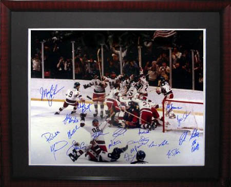 1980 USA Olympic Hockey Team Autograph Sports Memorabilia from Sports Memorabilia On Main Street, sportsonmainstreet.com