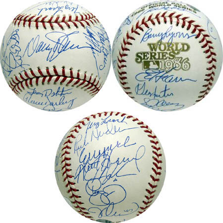 1986 New York Mets World Championship Team Autograph Sports Memorabilia from Sports Memorabilia On Main Street, sportsonmainstreet.com