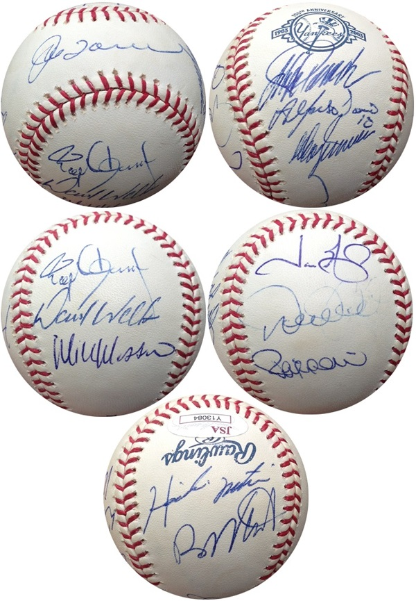 2003 New York YankeesW/ Derek Jeter, Hideki Matsui, Jorge Posada & 9 More Autograph Sports Memorabilia from Sports Memorabilia On Main Street, sportsonmainstreet.com