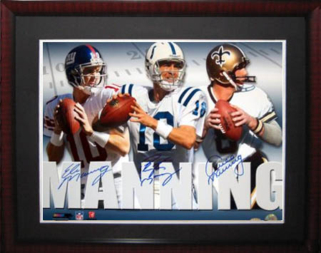 Archie, Peyton, and Eli Manning Autograph Sports Memorabilia from Sports Memorabilia On Main Street, sportsonmainstreet.com
