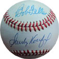 Sandy Koufax, Nolan Ryan, and Bob Feller 3 Top No Hitter Pitchers Autograph Sports Memorabilia, Click Image for more info!