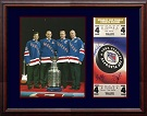 Mark Messier, Brian Leetch, Mike Richter & Adam Graves Autograph Sports Memorabilia, Click Image for more info!