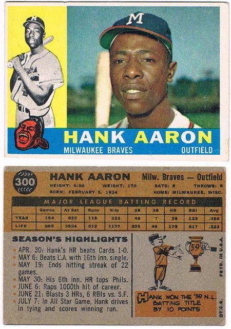 HankAaron Autograph Sports Memorabilia from Sports Memorabilia On Main Street, sportsonmainstreet.com
