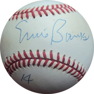 Ernie Banks Autograph Sports Memorabilia from Sports Memorabilia On Main Street, sportsonmainstreet.com