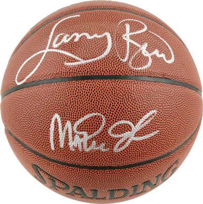 LarryBird and Magic Johnson Autograph Sports Memorabilia from Sports Memorabilia On Main Street, sportsonmainstreet.com