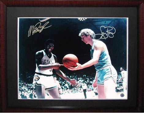 Larry Bird and Magic Johnson Autograph Sports Memorabilia from Sports Memorabilia On Main Street, sportsonmainstreet.com