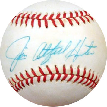 Jim CatfishHunter Autograph Sports Memorabilia from Sports Memorabilia On Main Street, sportsonmainstreet.com