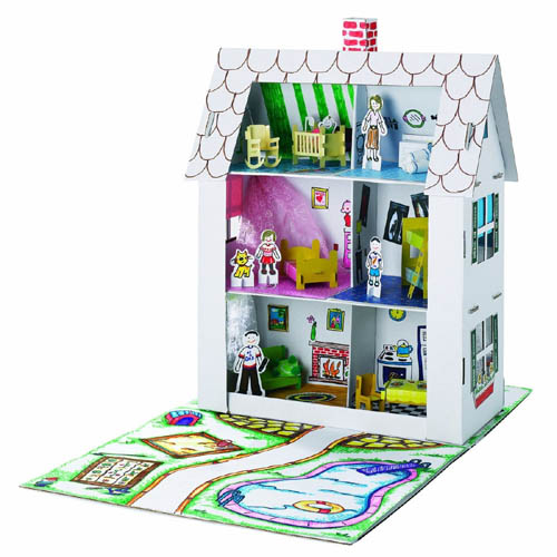 Recycled Cardboard Dollhouse Toy, from Toys On Main Street, Cow Over The Moon Gifts
