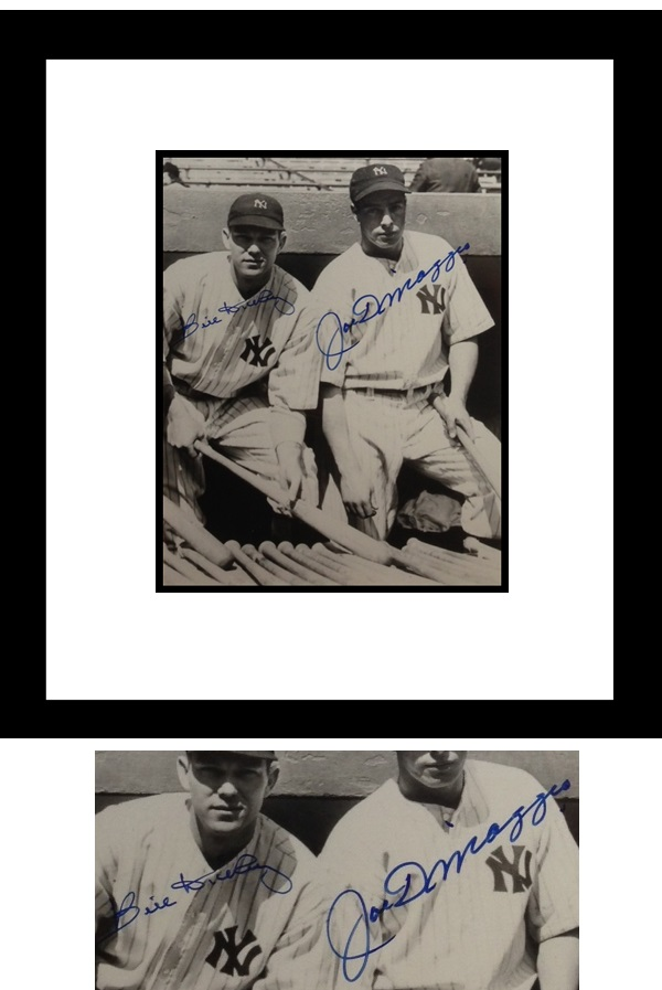 Joe DiMaggio and Bill Dickey Autograph Sports Memorabilia from Sports Memorabilia On Main Street, sportsonmainstreet.com