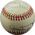 Mickey Mantle, Willie Mays, and Duke Snider Autograph Sports Memorabilia, Click Image for more info!