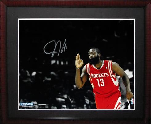 sale retailer 3bef6 5d353 James Harden Sports Memorabilia from Sports Memorabilia On ...