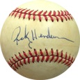 Rickey Henderson Autograph Sports Memorabilia, Click Image for more info!