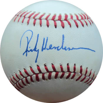 info for 90130 7f062 Rickey Henderson Autographed Sports Memorabilia from Sports ...