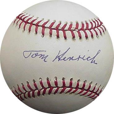 TomHenrich Autograph Sports Memorabilia from Sports Memorabilia On Main Street, sportsonmainstreet.com