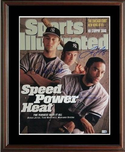 Derek Jeter, Mariano Rivera, and Tino Martinez Autograph Sports Memorabilia from Sports Memorabilia On Main Street, sportsonmainstreet.com