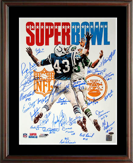 d06908caf97 1969 New York Jets Super Bowl Champion Team Autograph Sports Memorabilia  from Sports Memorabilia On Main