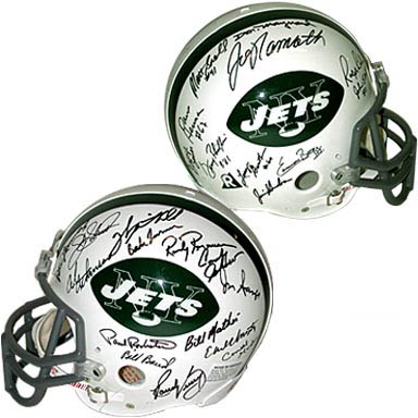 1969 New York Jets Super Bowl Champion Team Autograph Sports Memorabilia from Sports Memorabilia On Main Street, sportsonmainstreet.com