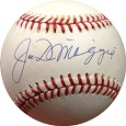 Joe DiMaggio Autograph Sports Memorabilia, Click Image for more info!