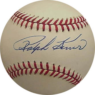 RalphKiner Autograph Sports Memorabilia from Sports Memorabilia On Main Street, sportsonmainstreet.com