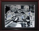 Mark Messier, Brian Leetch, and Adam Graves Autograph Sports Memorabilia, Click Image for more info!