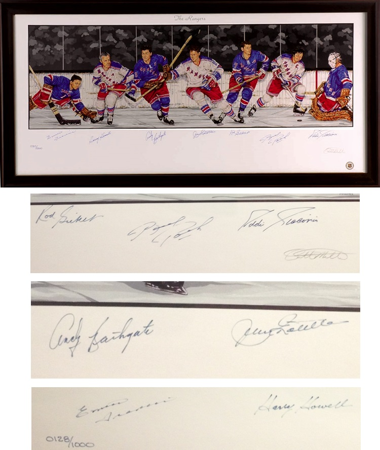 7 New York Rangers Legends w/ Rod Gilbert, Eddie Giacomin & More Autograph Sports Memorabilia from Sports Memorabilia On Main Street, sportsonmainstreet.com