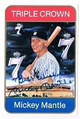 Mickey Mantle Autograph Sports Memorabilia from Sports Memorabilia On Main Street, sportsonmainstreet.com, Click Image for more info!