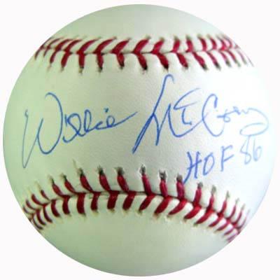 WillieMcCovey Autograph Sports Memorabilia from Sports Memorabilia On Main Street, sportsonmainstreet.com