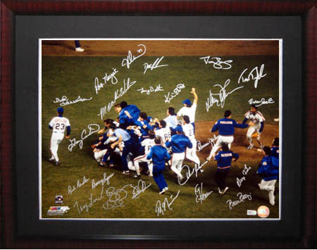 1986 New York MetsWorld Championship Team Autograph Sports Memorabilia from Sports Memorabilia On Main Street, sportsonmainstreet.com