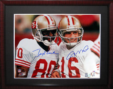 Jerry Rice and Joe Montana Autograph Sports Memorabilia from Sports Memorabilia On Main Street, sportsonmainstreet.com
