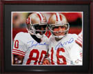 Jerry Rice and Joe Montana Autograph Sports Memorabilia, Click Image for more info!