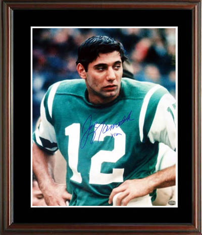 Joe Namath Autograph Sports Memorabilia from Sports Memorabilia On Main Street, sportsonmainstreet.com