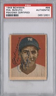 Phil Rizzuto Autograph Sports Memorabilia, Click Image for more info!