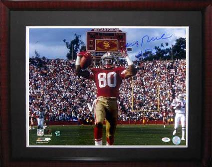JerryRice Autograph Sports Memorabilia from Sports Memorabilia On Main Street, sportsonmainstreet.com