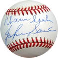 Warren Spahn and Johnny Sain Autograph Sports Memorabilia, Click Image for more info!