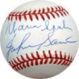 WarrenSpahn and Johnny Sain Autograph Sports Memorabilia, Click Image for more info!
