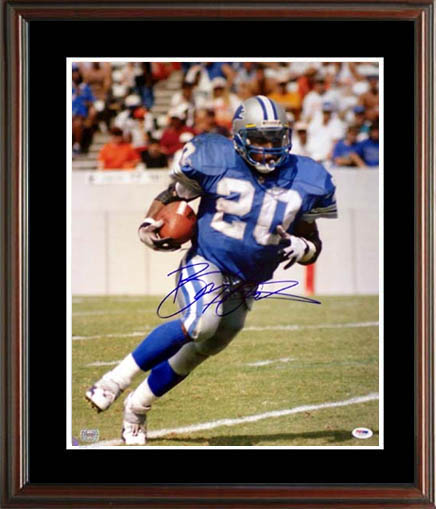 BarrySanders Autograph Sports Memorabilia from Sports Memorabilia On Main Street, sportsonmainstreet.com