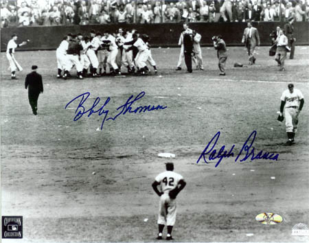 Bobby Thomson and Ralph Branca Autograph Sports Memorabilia from Sports Memorabilia On Main Street, sportsonmainstreet.com