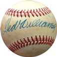 Ted Williams Autograph Sports Memorabilia, Click Image for more info!