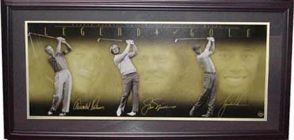 TigerWoods, Jack Nicklaus, and Arnold Palmer Autograph Sports Memorabilia from Sports Memorabilia On Main Street, sportsonmainstreet.com