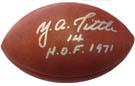 Y.A.Tittle Autograph Sports Memorabilia, Click Image for more info!
