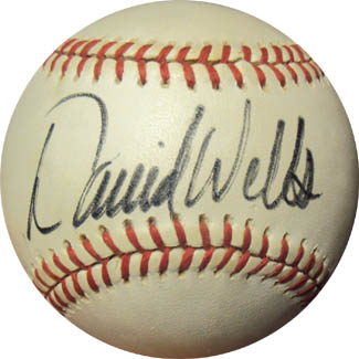 David Wells Autograph Sports Memorabilia from Sports Memorabilia On Main Street, sportsonmainstreet.com