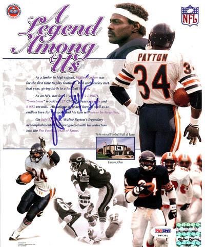 WalterPayton Autograph Sports Memorabilia from Sports Memorabilia On Main Street, sportsonmainstreet.com