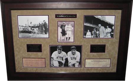 BabeRuth and Lou Gehrig Autograph Sports Memorabilia from Sports Memorabilia On Main Street, sportsonmainstreet.com